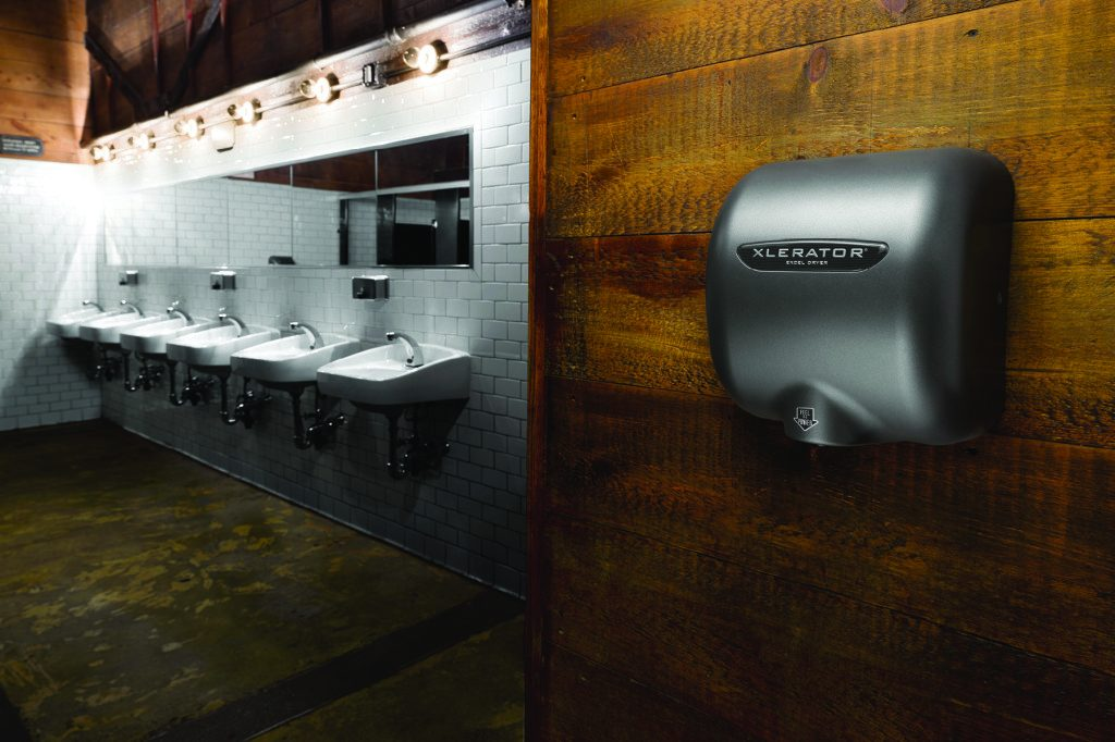 Hygienic Hand Dryer Installation in Restroom